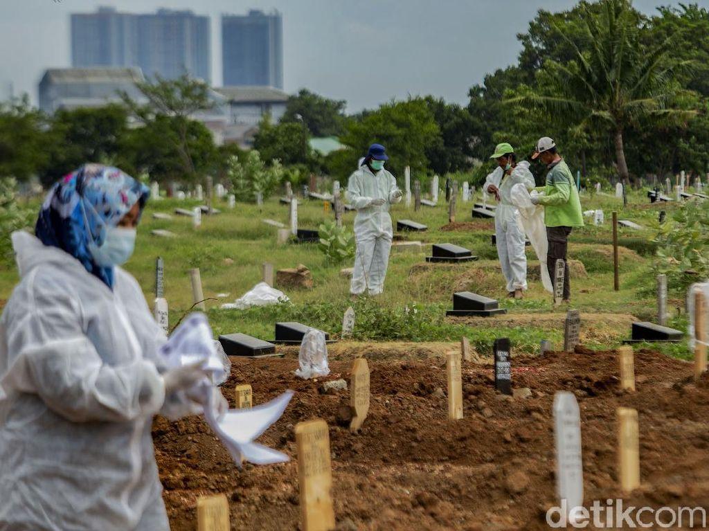 Angka Kematian Corona RI Rekor 2 Hari Berturut-turut, Hari Ini Ada 306