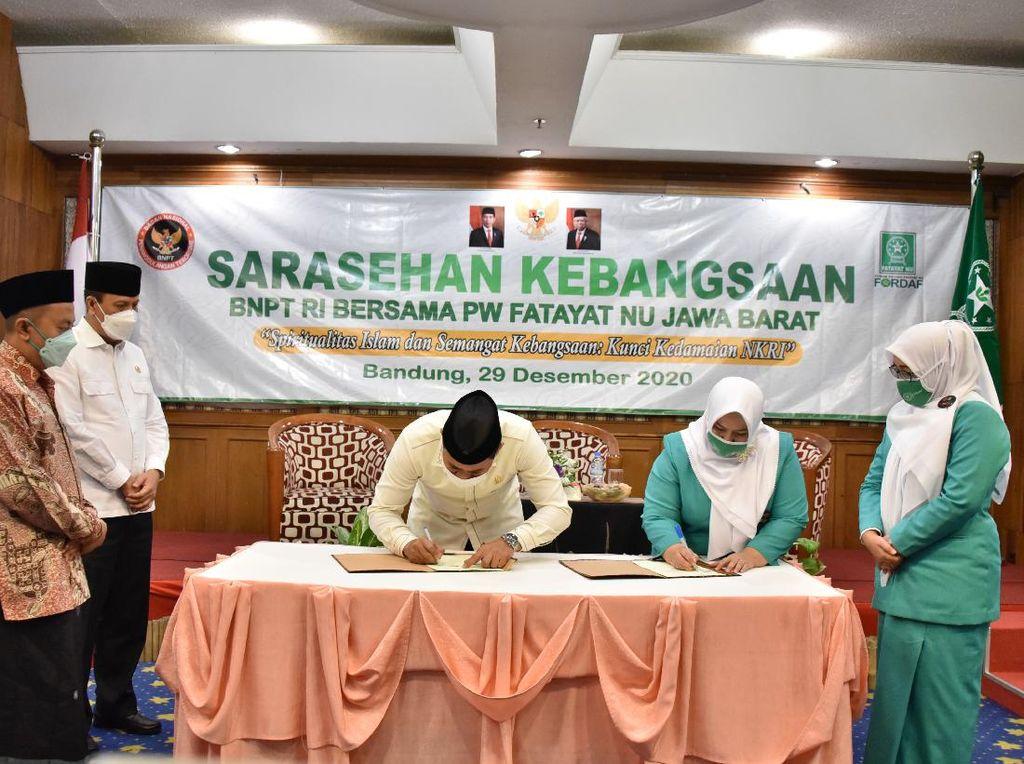 BNPT dan Fatayat NU Jabar Jalin Kerja Sama Tangkis Paham Terorisme