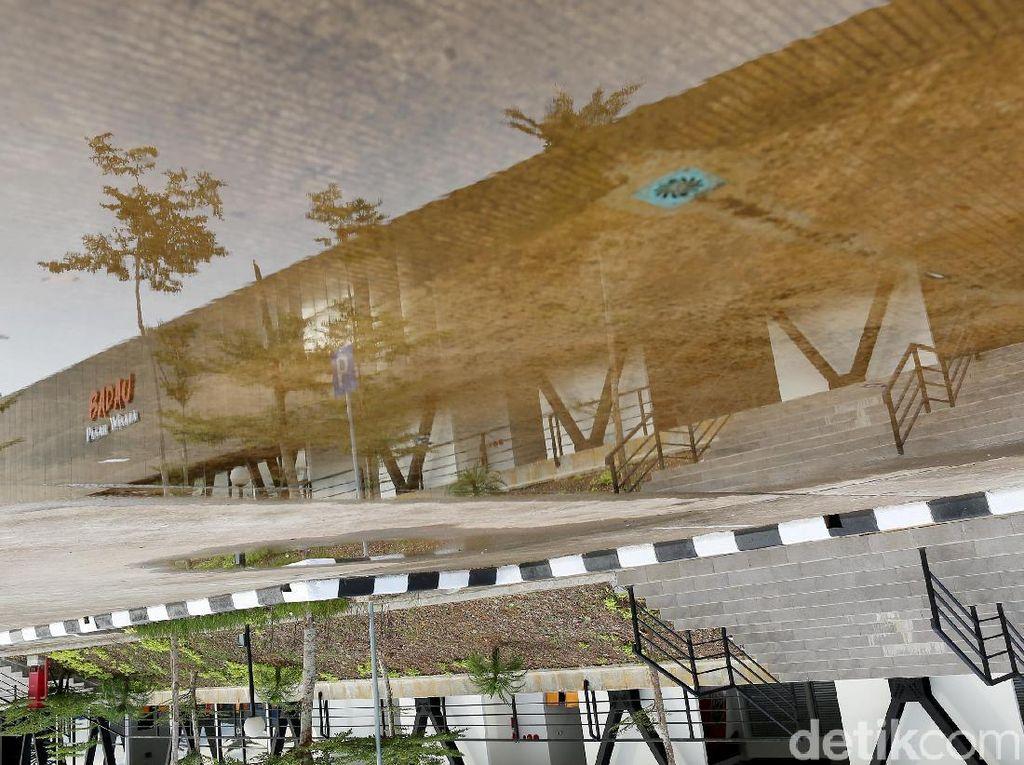 Foto: Pasar Wisata Badau yang Sepi Akibat Pandemi