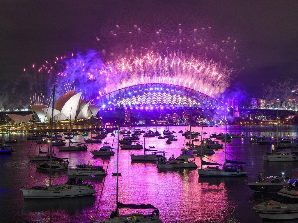 Gemerlap Perayaan Tahun Baru di Sydney