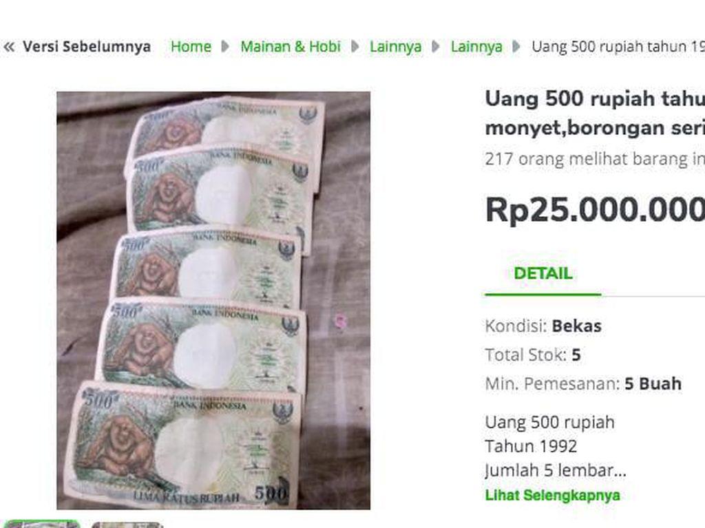 Harga Uang Rupiah Lama Fantastis, Ada yang Rp 1 Miliar