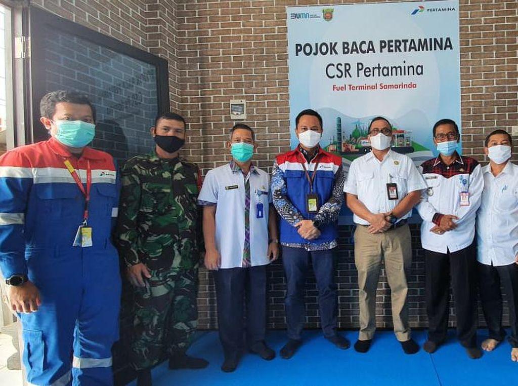 Pertamina Hadirkan Pojok Baca di Kecamatan Sungai Kunjang Samarinda