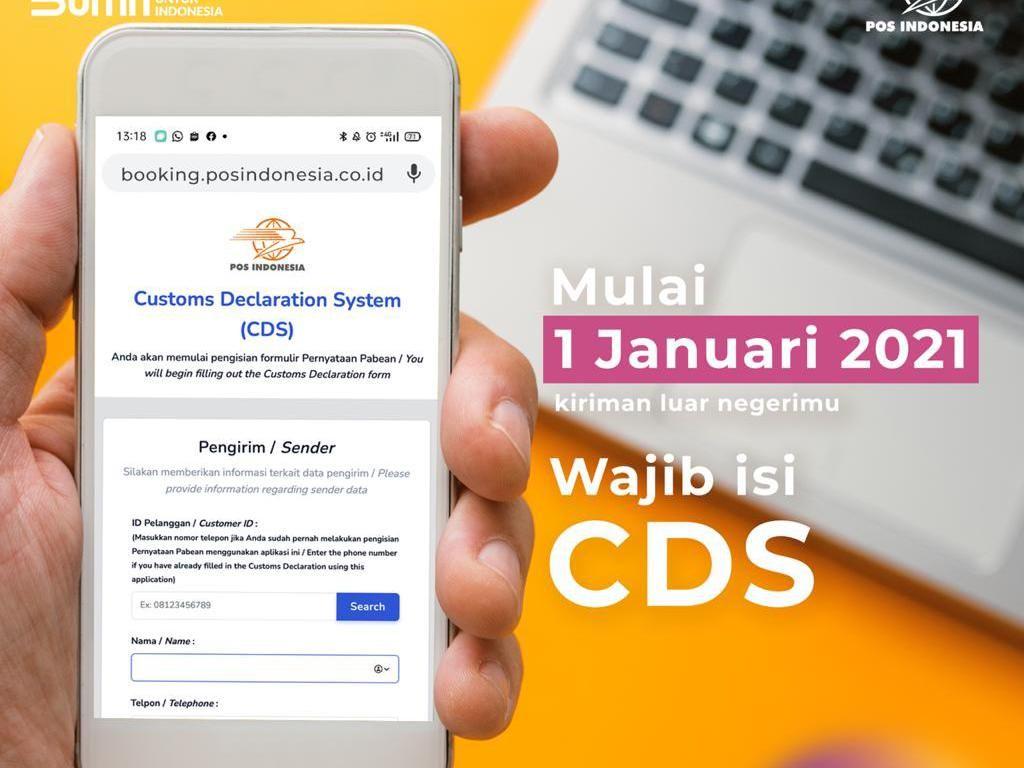 Mulai Besok, Kirim Paket Internasional di Pos Indonesia Wajib Isi CDS
