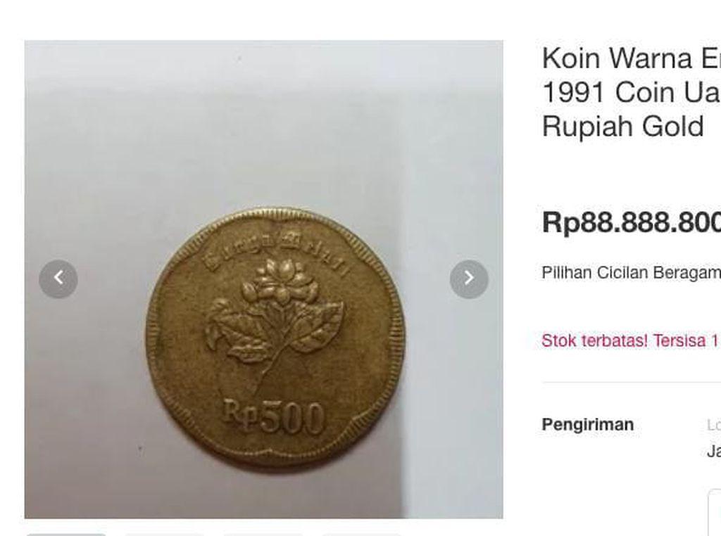 Buset! Uang Logam Gopek Gambar Melati Ada yang Dijual Rp 1 M