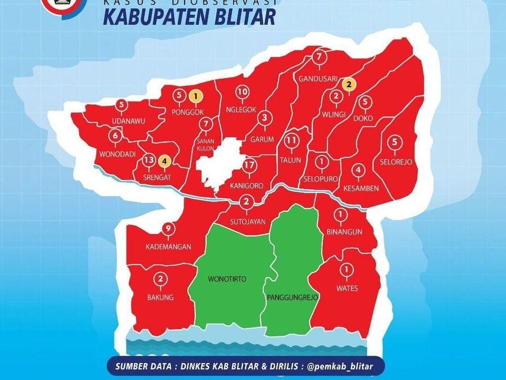 Tambah 144 Kasus COVID-19, Kabupaten Blitar Menuju Zona Merah Lagi