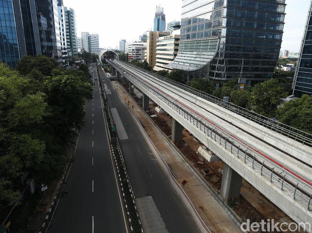 Jalan di Jakarta Lengang di Awal Tahun