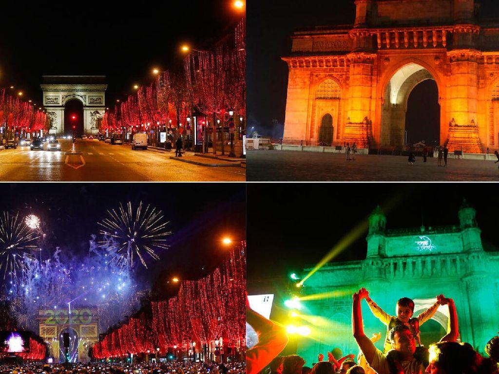 Foto Malam Tahun Baru di Berbagai Negara Sebelum dan Saat Pandemi