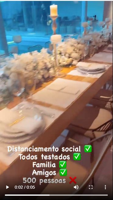 Tangkapan layar Instagram milik Neymar di perayaan Tahun Baru 2021.