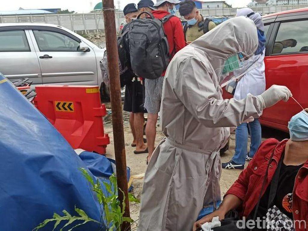 Penumpang Kapal di Pelabuhan Kali Adem Dirapid Antigen, 6 Positif