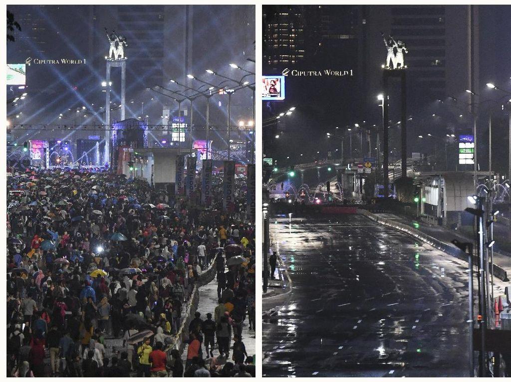 Tahun Baru di Ibu Kota Sebelum dan Sesudah Pandemi