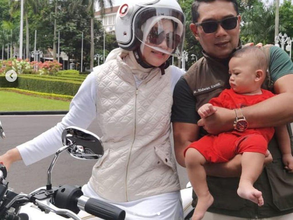 Ridwan Kamil Motoran Pakai Helm Rambut Tetap Klimis, Kok Bisa?