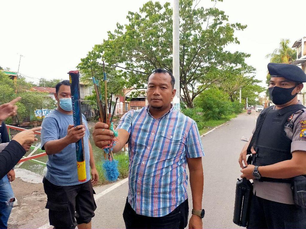 Tawuran dengan Sajam-Molotov Antarwarga di Makassar Pecah