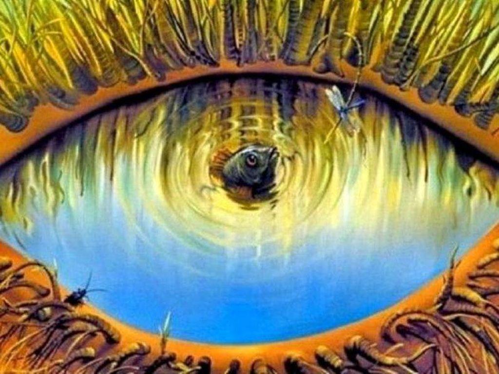 Tes Kepribadian: Gambar Ikan atau Mata yang Pertama Kali Kamu Lihat?