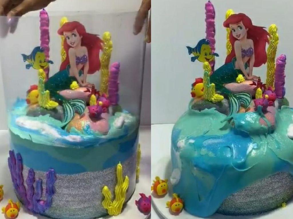 Tsunami Cake Tren, Tawarkan Sensasi Meluber Saat Kue Disajikan