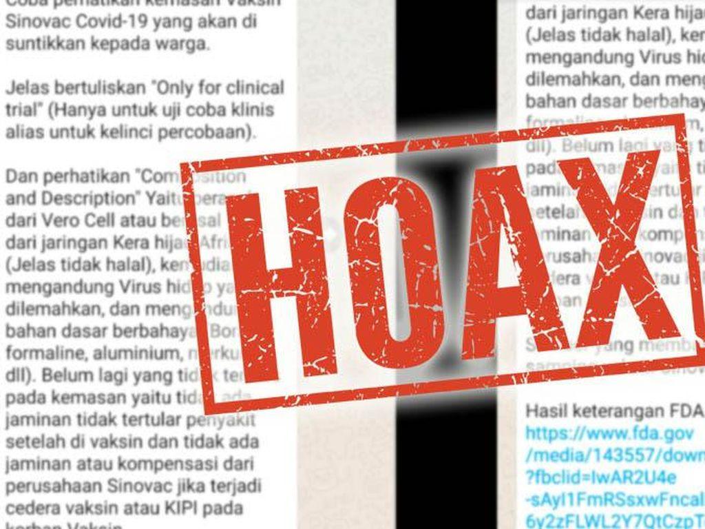 Heboh Vaksin Corona Sinovac Mengandung Jaringan Kera, Bio Farma Pastikan Hoax!