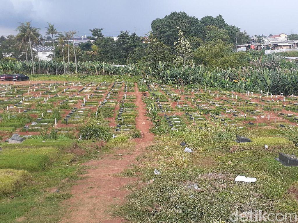 Area Makam Corona di TPU Pondok Ranggon Penuh, Begini Kondisinya Sekarang