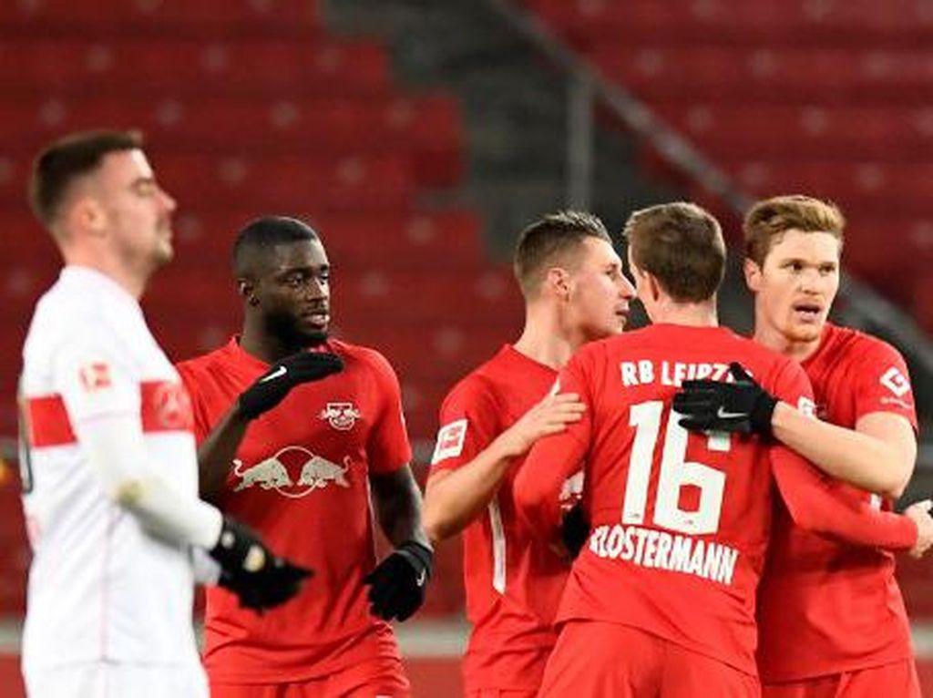 Liga Jerman: Kalahkan Stuttgart 1-0, Leipzig Geser Bayern dari Puncak