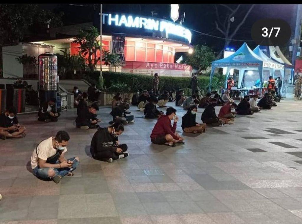Kumpul-kumpul di Sudirman-Thamrin Malam Minggu, 69 Orang Jalani Rapid Test