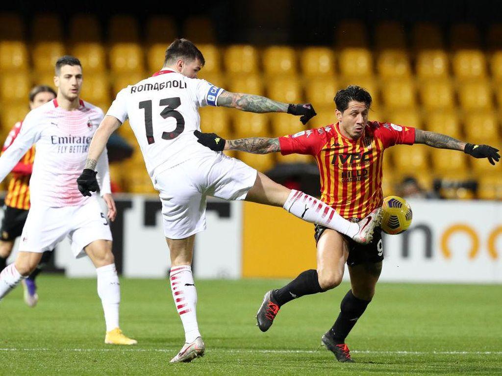 Benevento vs Milan: Mantapnya Lini Belakang Rossoneri