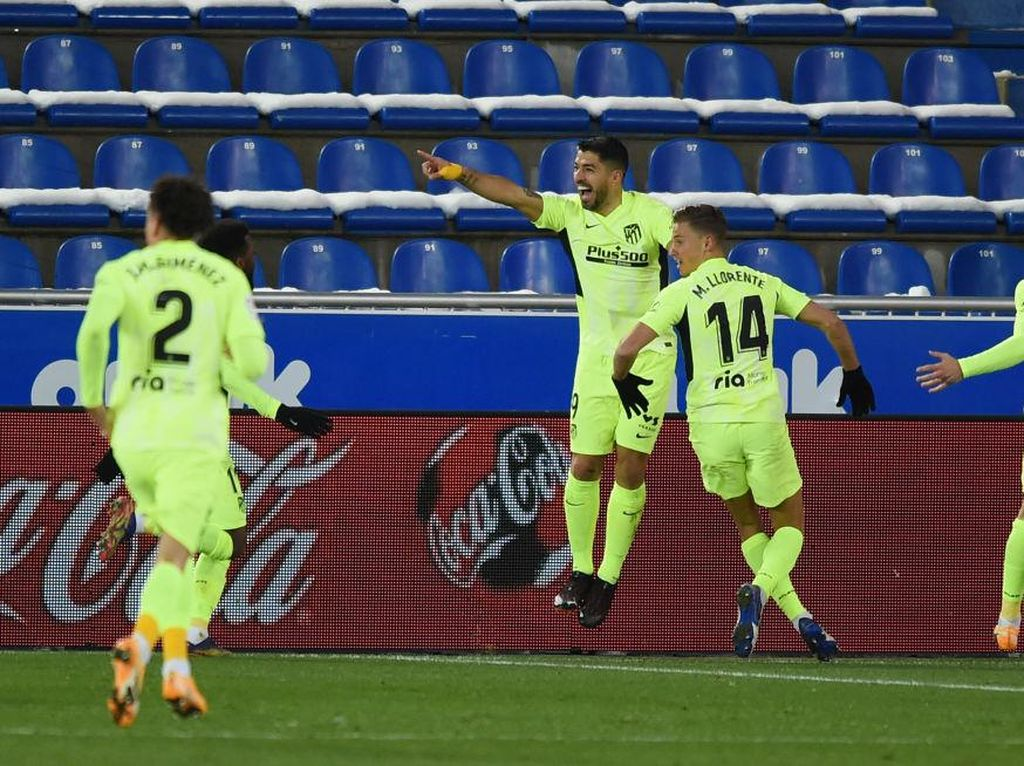 Gol Suarez Pastikan Atletico Naik ke Puncak Klasemen