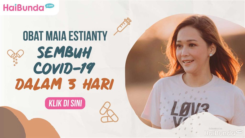 Banner Maia Estianty Sembuh Covid-19