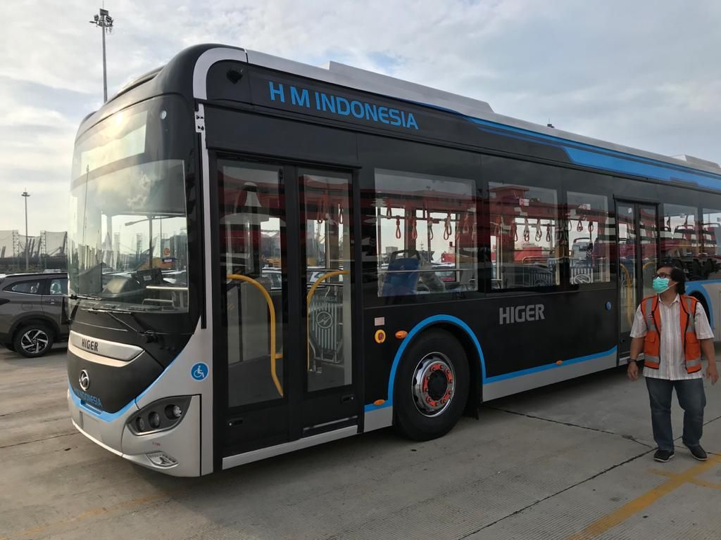 Potret Bus Listrik China yang Diuji Coba Transjakarta