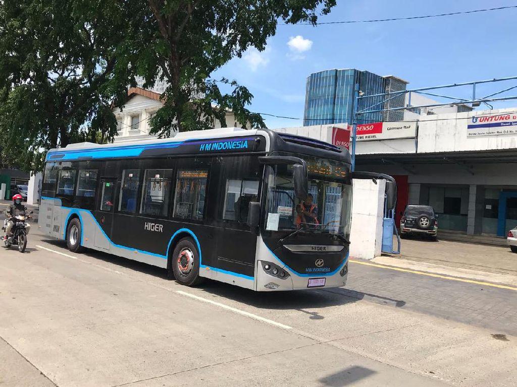 Lagi, Transjakarta Uji Coba Bus Listrik Asal China