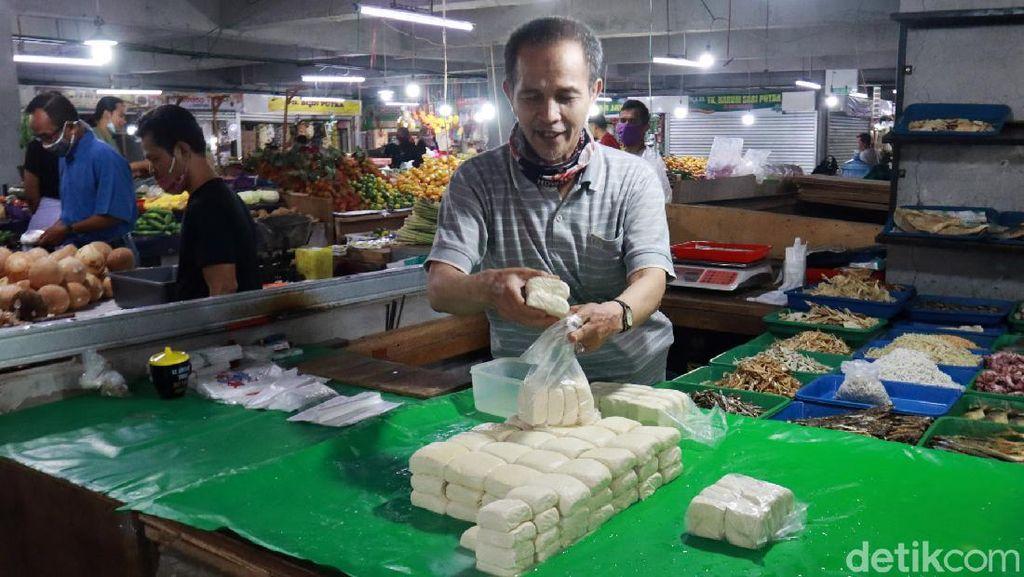 Pagi Ini, Harga Tahu Naik di Pasar Kosambi Bandung