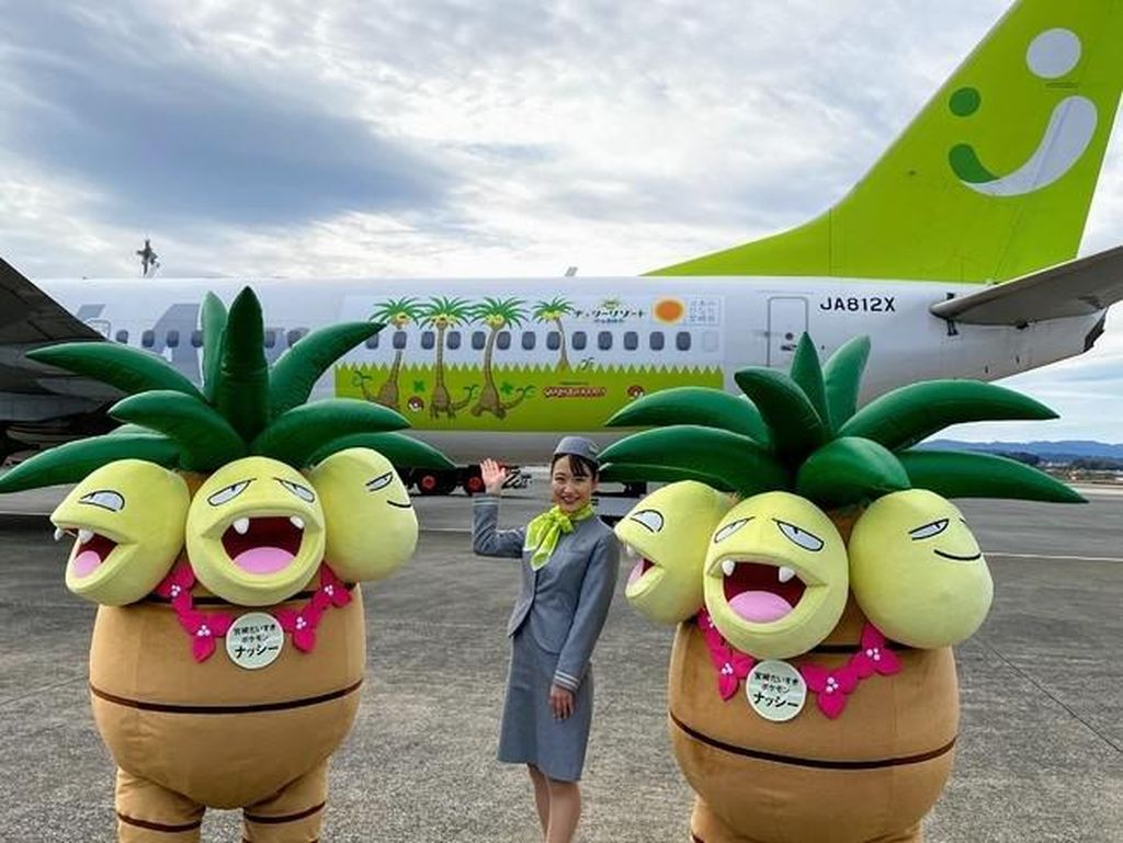 Gemas Banget! Ada Pesawat Bertema Pokemon di Jepang