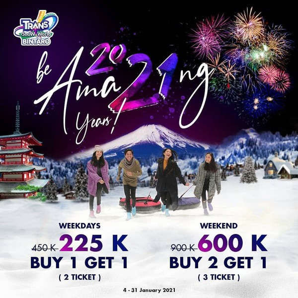 Promo Tiket Masuk Trans Snow World
