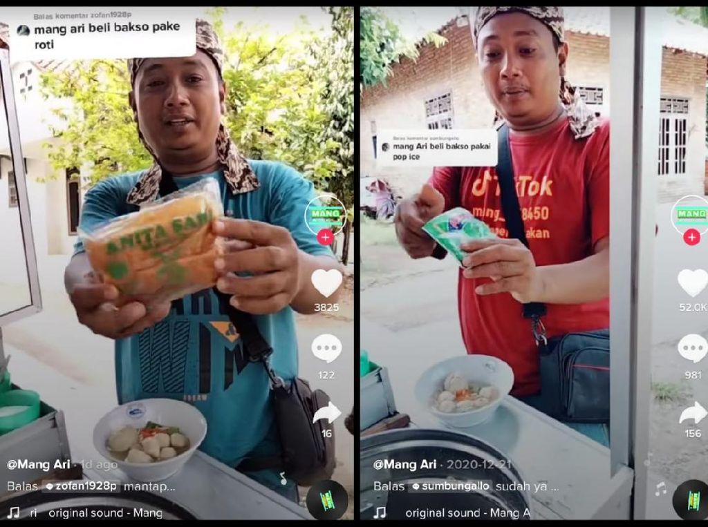 Tukang Bakso Viral Ini Racik Bakso Pakai Roti hingga Kedondong!
