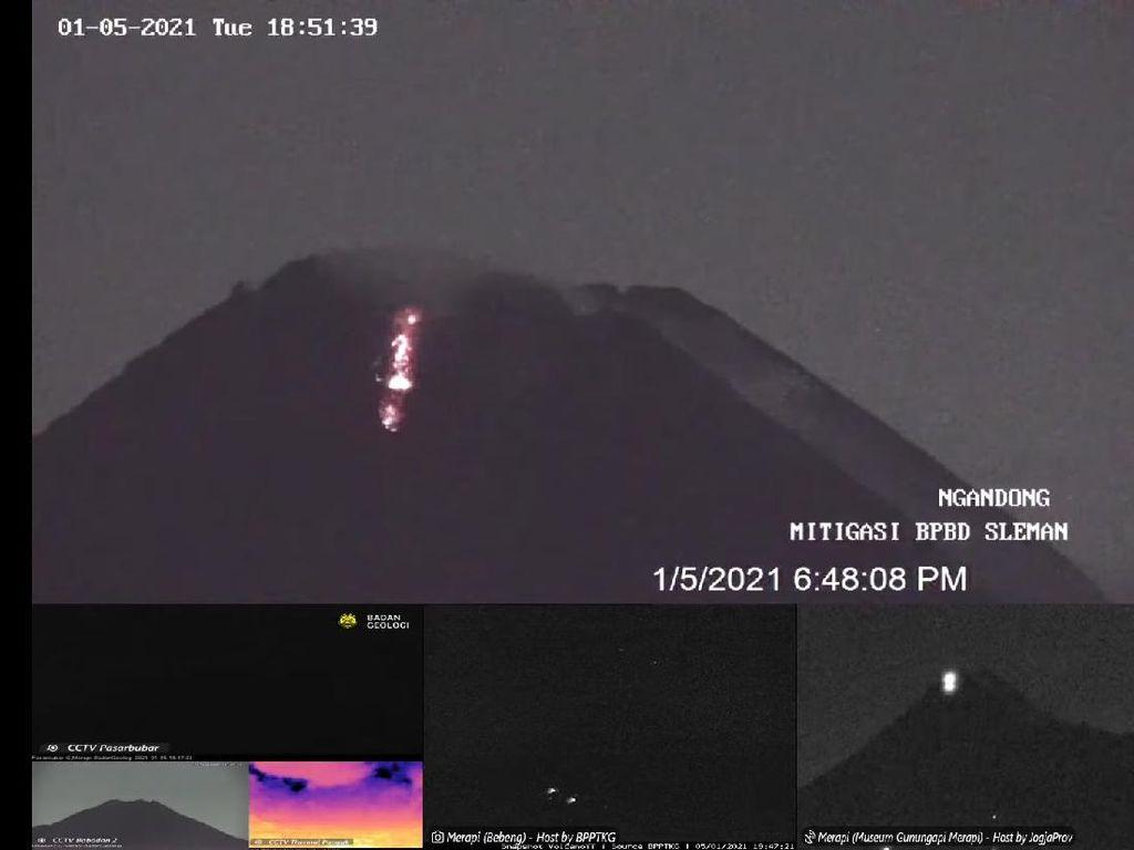 Sejak Semalam Gunung Merapi Keluarkan 6 Kali Guguran Lava Pijar