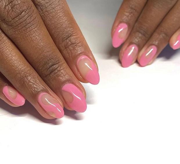 playful pink spring nail art