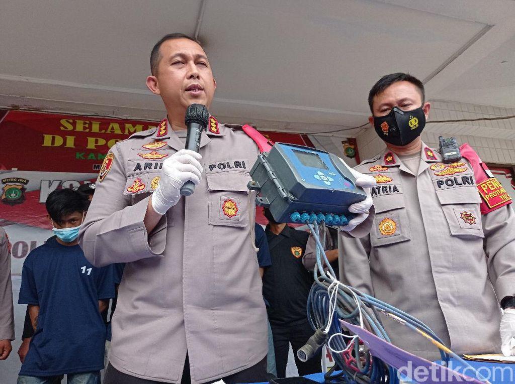 Bagian Pipa Gas yang Dicuri di Cakung Jaktim Senilai Rp 40 Juta