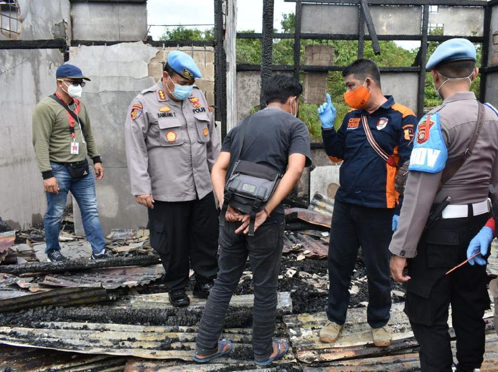 Mako Polsek Terentang Kalbar Ludes Terbakar, Diduga Akibat Korsleting
