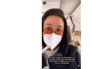 Pamer Lifehack Terbang ke Bali, Richard Muljadi Maskernya Kok Pakai Selang?