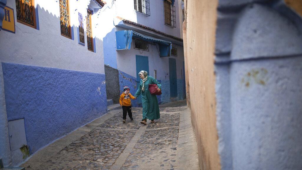 Tanpa Turis, Kota Biru Chefchaouen Bisa Santai