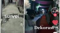 Viral Pernikahan dengan Dekorasi Mewah di Gang Sempit Bekasi