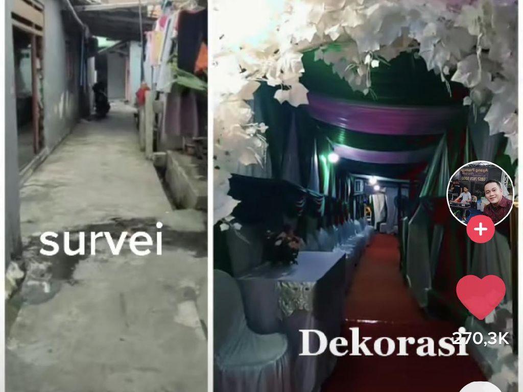 Most Pop Sepekan: Pernikahan di Gang Sempit dengan Dekorasi Mewah Jadi Viral