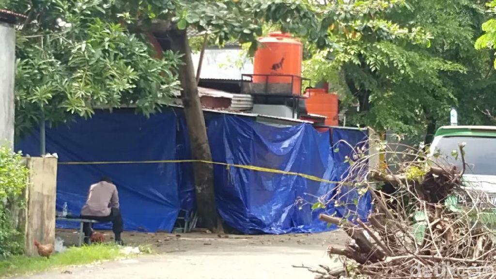 Suasana TKP Terduga Teroris di Makassar Ditembak Mati Densus 88