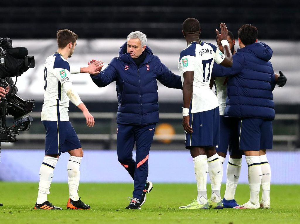 Tottenham Lolos, Rekor Sempurna Mourinho di Final Piala Liga Inggris Diuji
