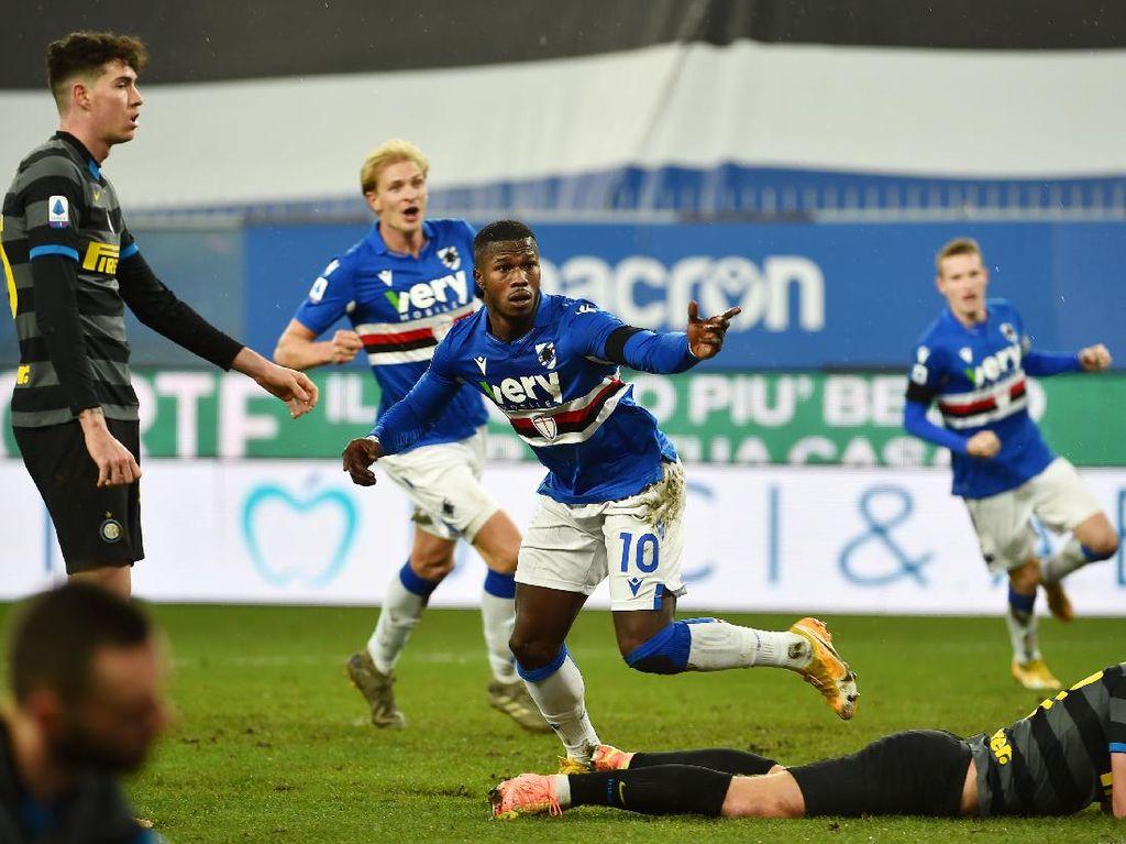 Sampdoria Vs Inter: Nerazzurri Kalah 1-2
