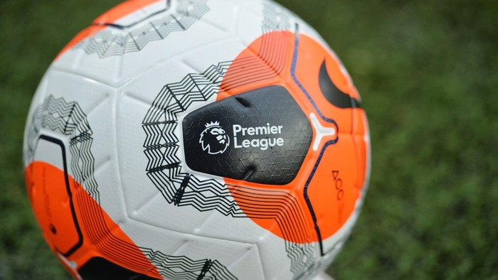 SHEFFIELD, ENGLAND - JULY 08: The premier league logo is seen on a match ball during the Premier League match between Sheffield United and Wolverhampton Wanderers at Bramall Lane on July 08, 2020 in Sheffield, England. Football Stadiums around Europe remain empty due to the Coronavirus Pandemic as Government social distancing laws prohibit fans inside venues resulting in all fixtures being played behind closed doors. (Photo by Peter Powell/Pool via Getty Images)