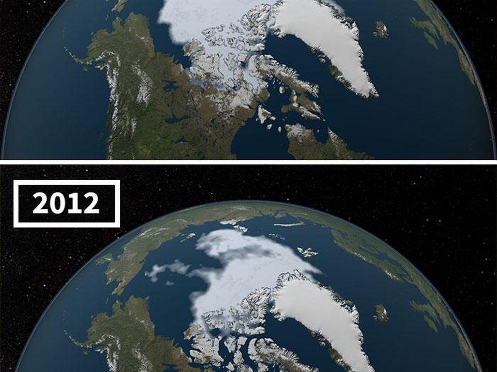 Foto Ngeri Dampak Pemanasan Global