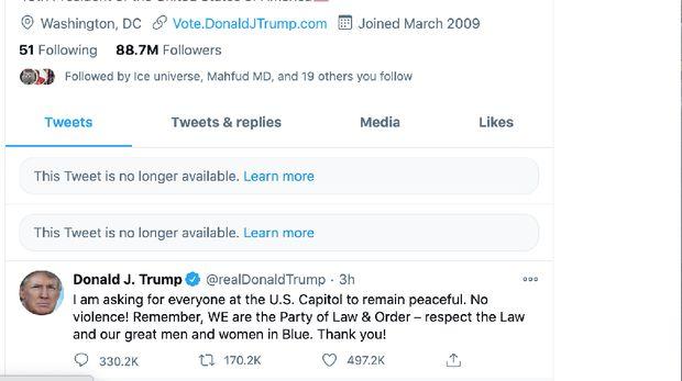 Akun Twitter Donald Trump