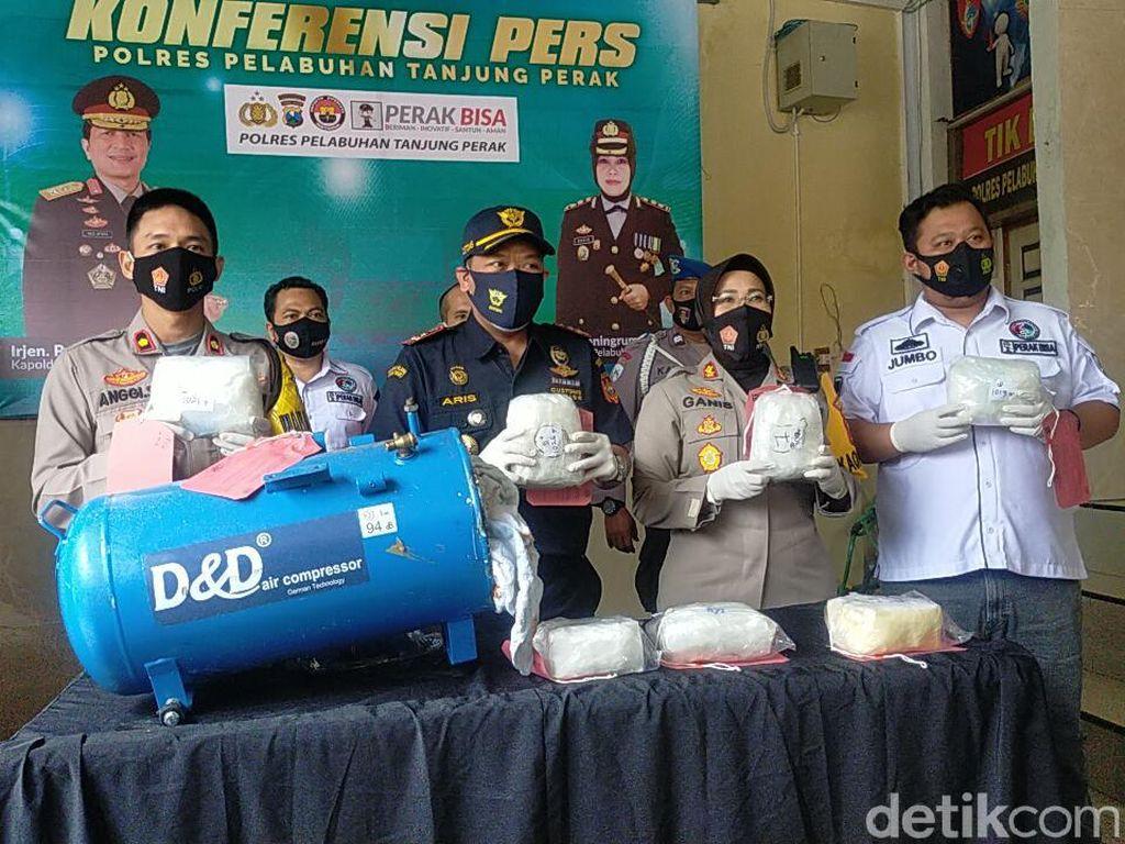 7,2 Kg Sabu Gagal Diselundupkan Lewat Tanjung Perak Surabaya