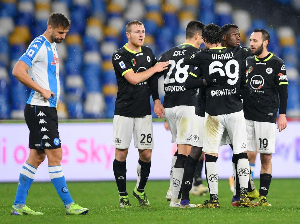Napoli Vs Spezia: Sempat Unggul, Il Partenopei Keok 1-2