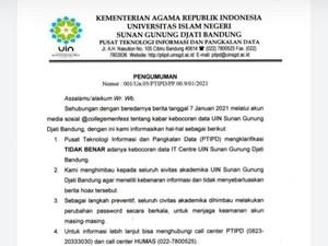 UIN Bandung Bantah Data Pribadi Mahasiswanya Bocor