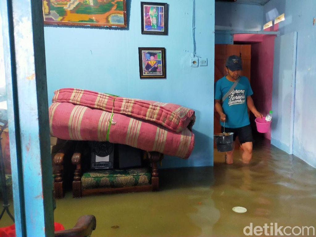Tiga Desa di Gresik Terendam Banjir Luapan Sungai Brantas
