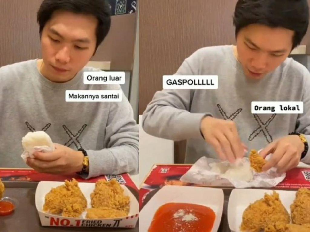 Intip Bedanya Orang Lokal Vs Luar Negeri Saat Makan di KFC